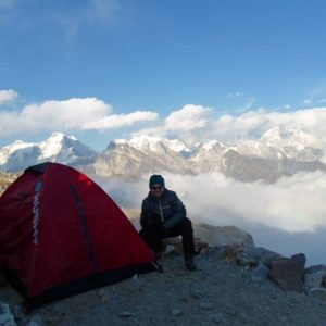 Renjo La pass (5 360 metres above sea level), Himalayas, Nepal